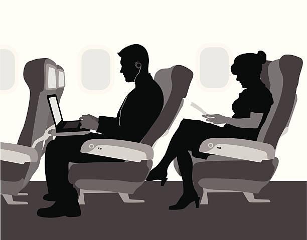 illustrazioni stock, clip art, cartoni animati e icone di tendenza di airplanetravel - sedili aereo