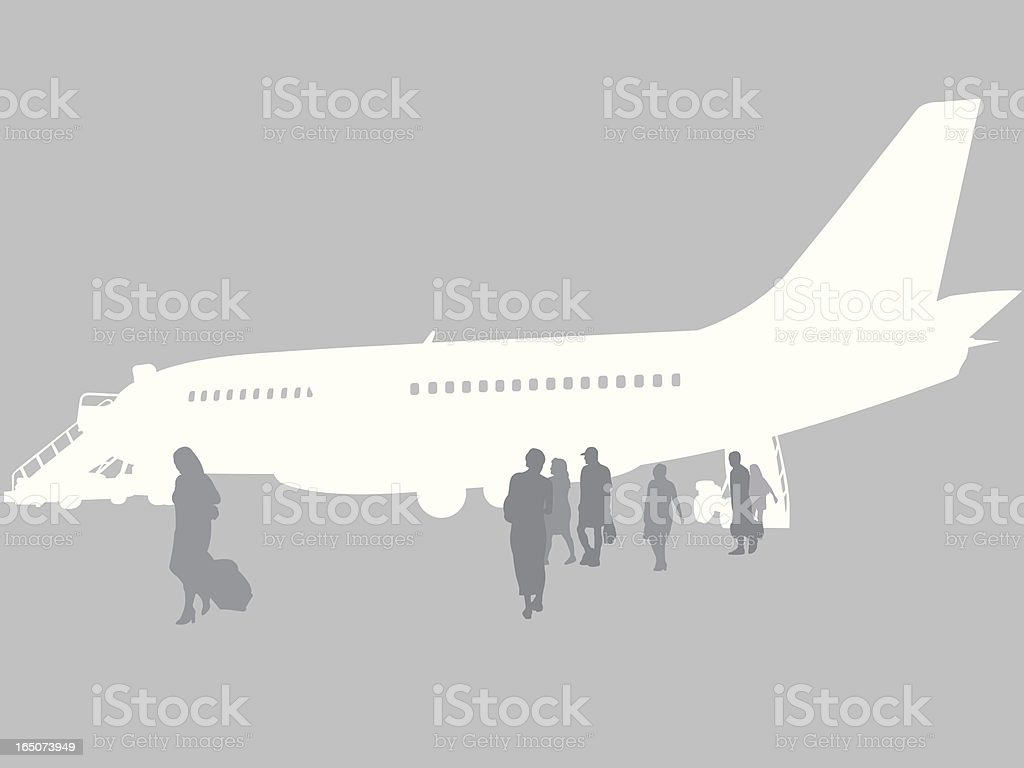 Airplane Unloading royalty-free airplane unloading stock vector art & more images of adult