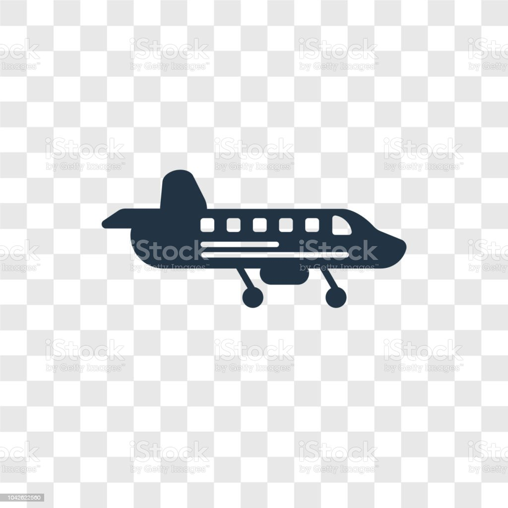 Airplane Vector Icon Isolated On Transparent Background Airplane