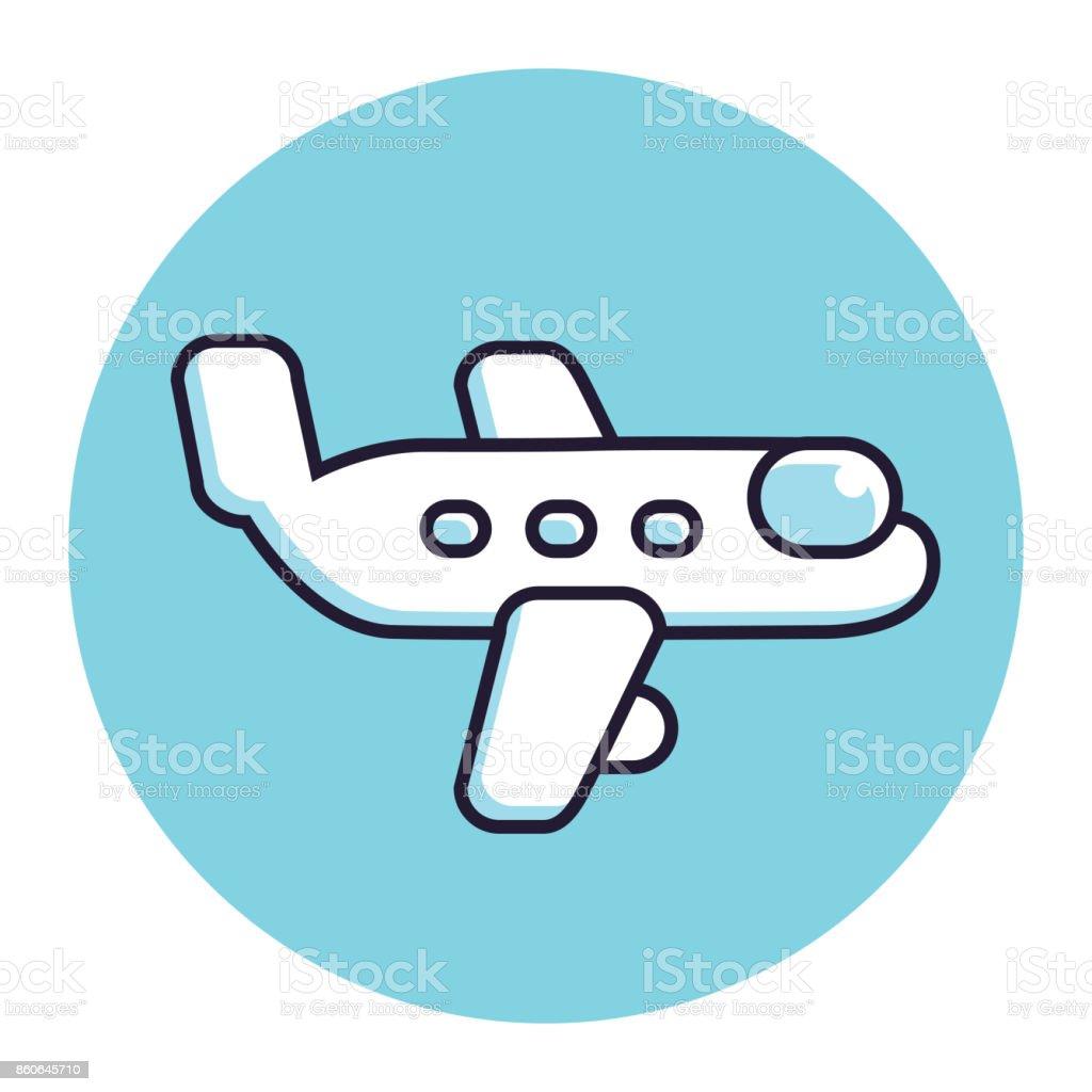 Airplane vector icon. vector art illustration