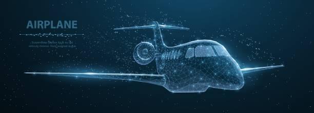 Airplane. vector art illustration