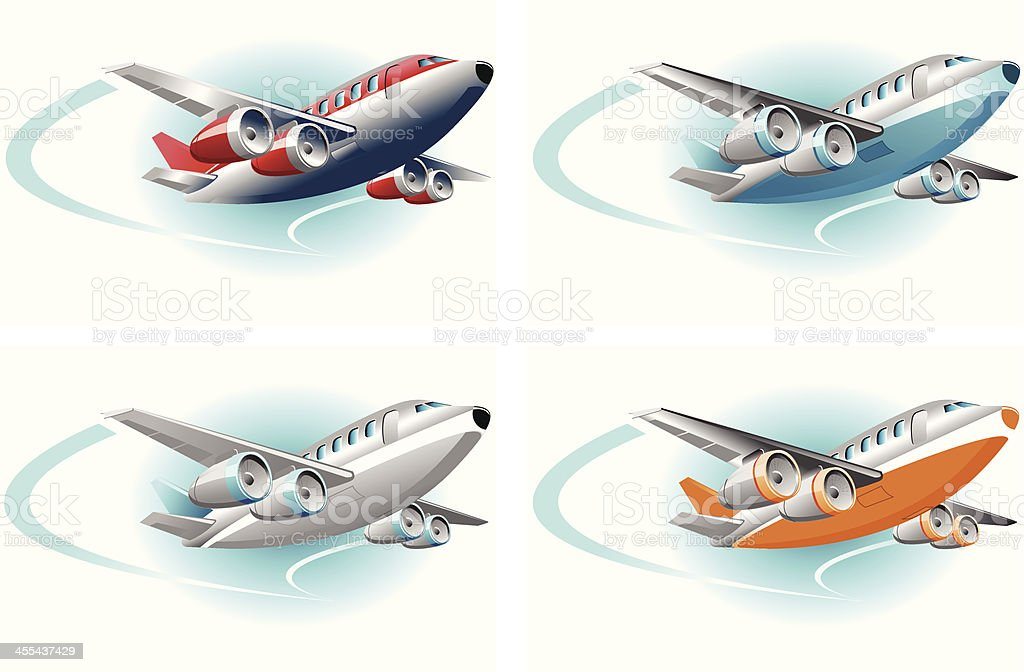 airplane royalty-free airplane stock vector art & more images of air vehicle