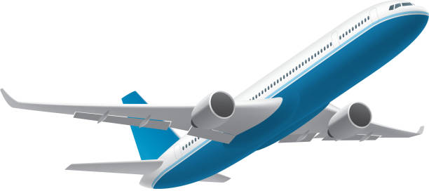 Airplane Gradient and transparent effect used. airport clipart stock illustrations