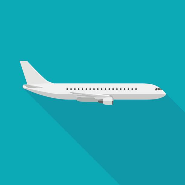 airplane - airplane stock illustrations, clip art, cartoons, & icons