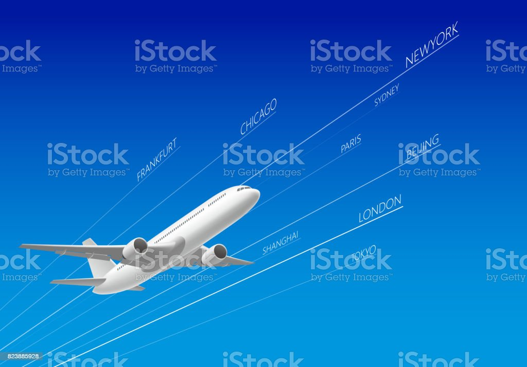 飛行機  ベクターアートイラスト
