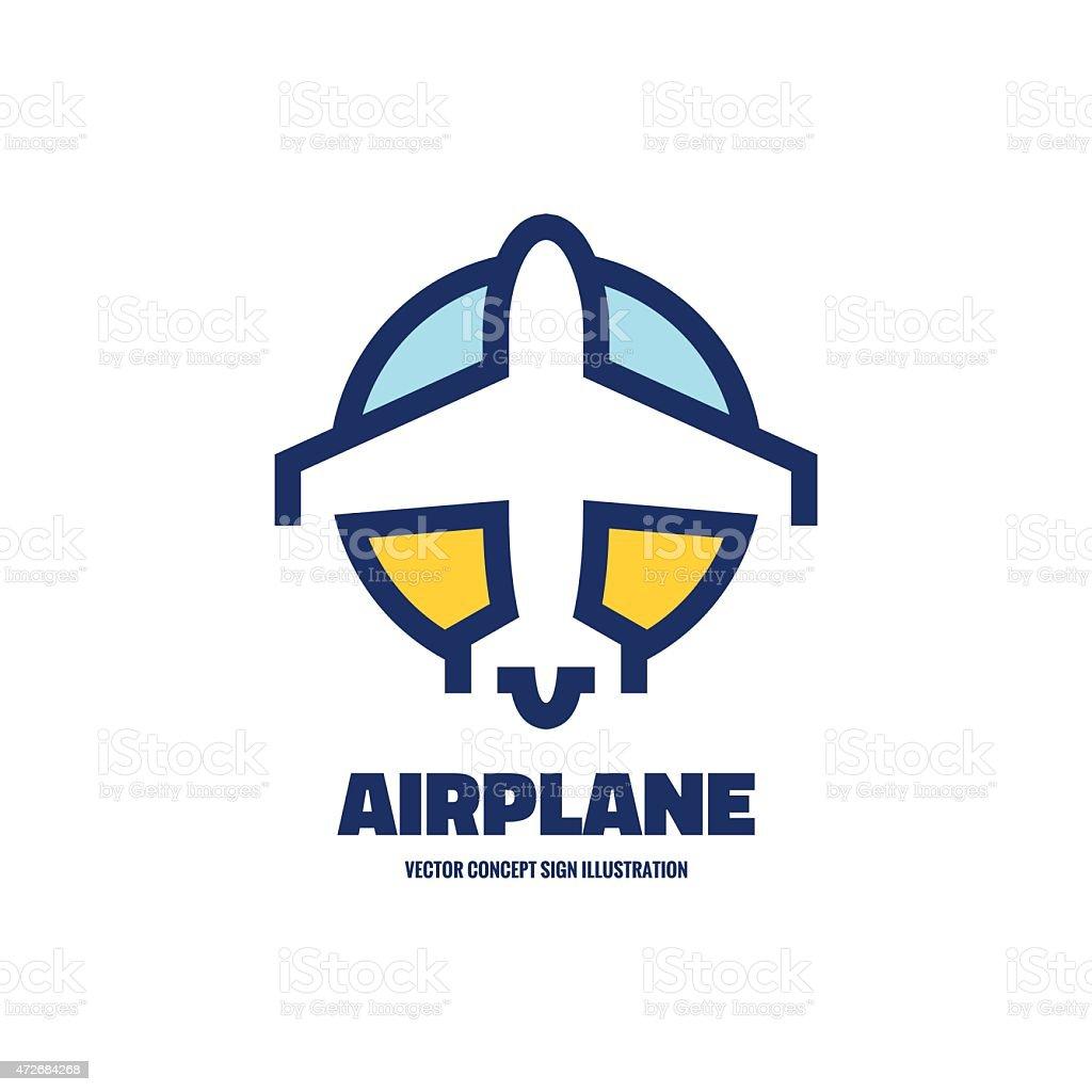 Airplane - vector logo concept illustration. vector art illustration