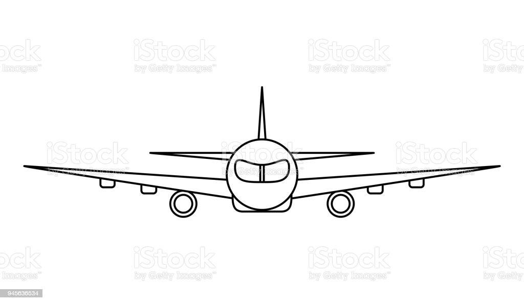 Ilustración de Esquema Del Vector De Avión y más banco de imágenes ...