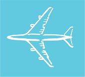 Airplane white sketch