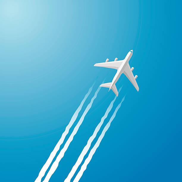 飛行機雲 イラスト素材 Istock