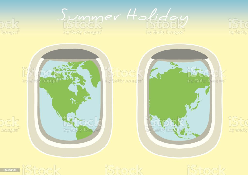 Airplane window through which the visible world map stock vector art airplane window through which the visible world map royalty free airplane window through which the gumiabroncs Choice Image
