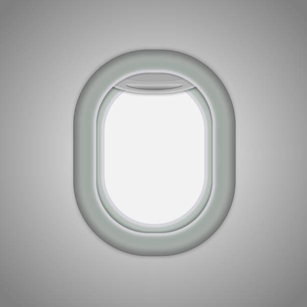 stockillustraties, clipart, cartoons en iconen met vliegtuig windows - raam