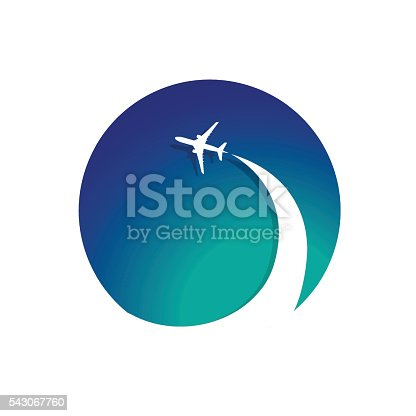 Airplane with airplane stream jet. Illustration for  poster, print and web projects travel agencies, aviation companies.