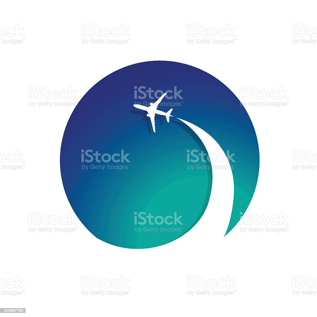 Airplane with airplane stream jet vector art illustration