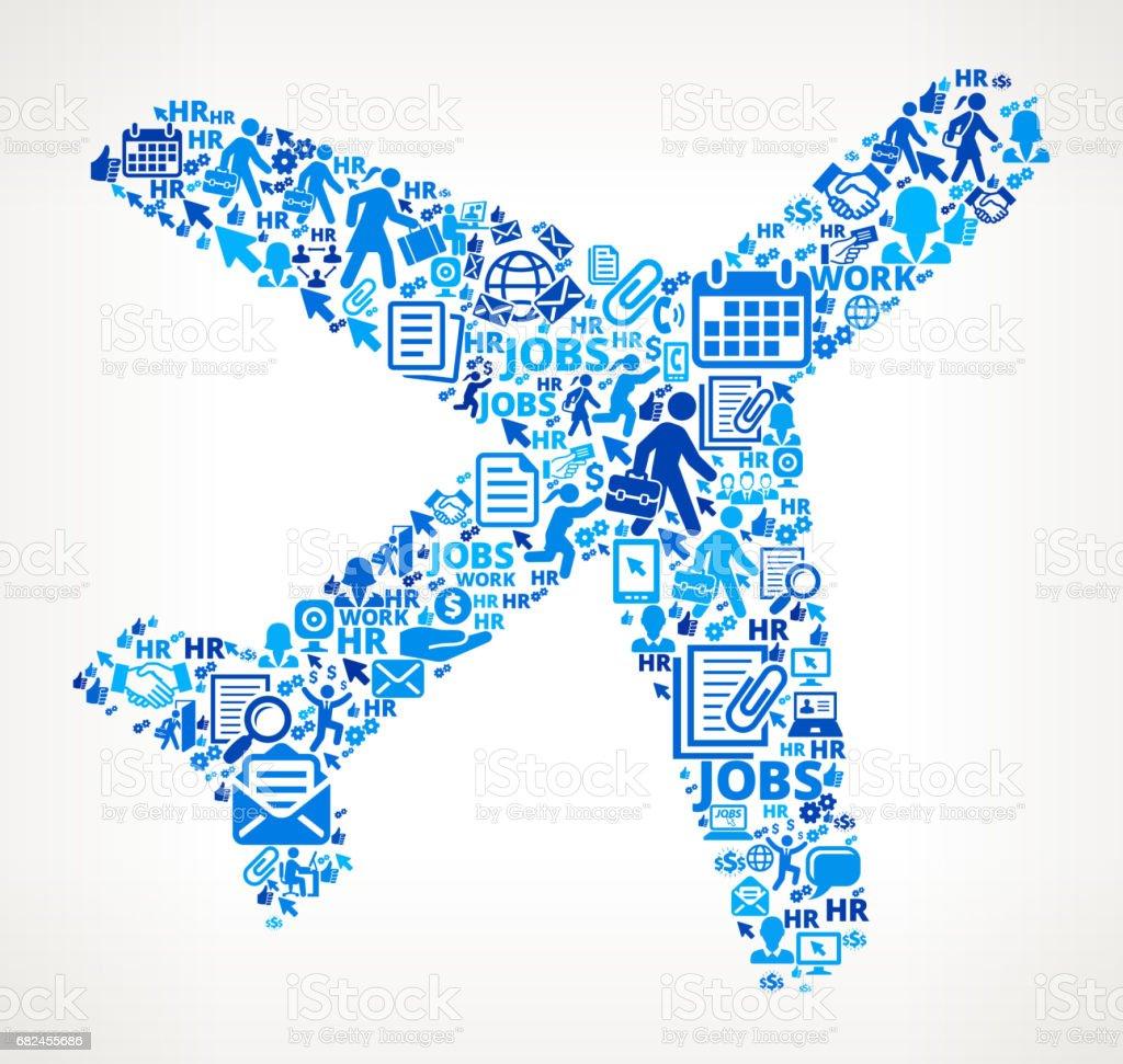 Flugzeug-Arbeit und Beschäftigung Corporate Symbol Hintergrund Lizenzfreies flugzeugarbeit und beschäftigung corporate symbol hintergrund stock vektor art und mehr bilder von anwerbung