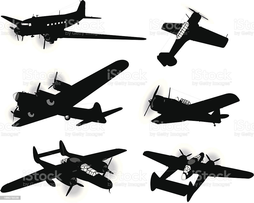 Us Airplanes Air Force Bombers And Trainers Armed Forces Stock Illustration Download Image Now Istock