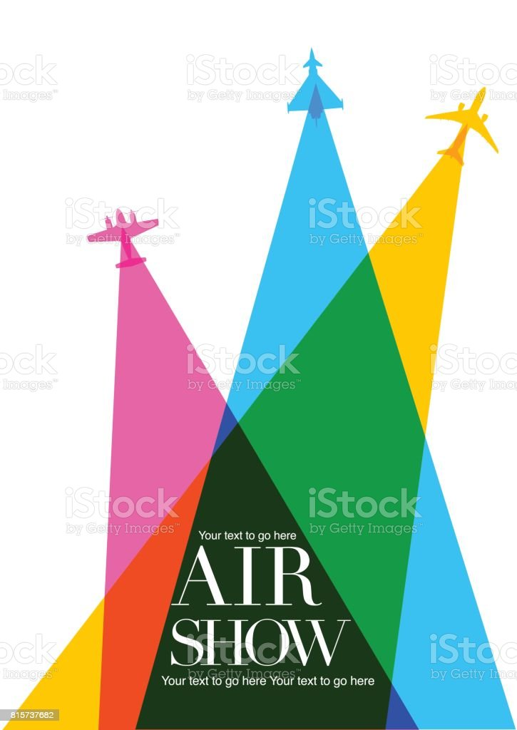 Airplanes \ Airshow poster vector art illustration