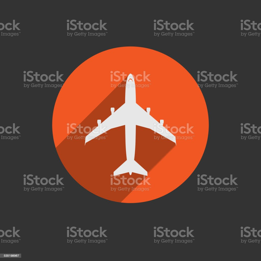 Airplanes icons vector art illustration