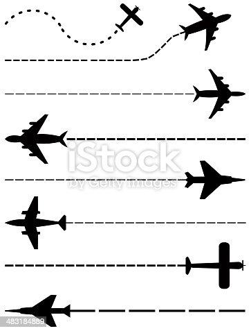 istock airplanes set 483184889