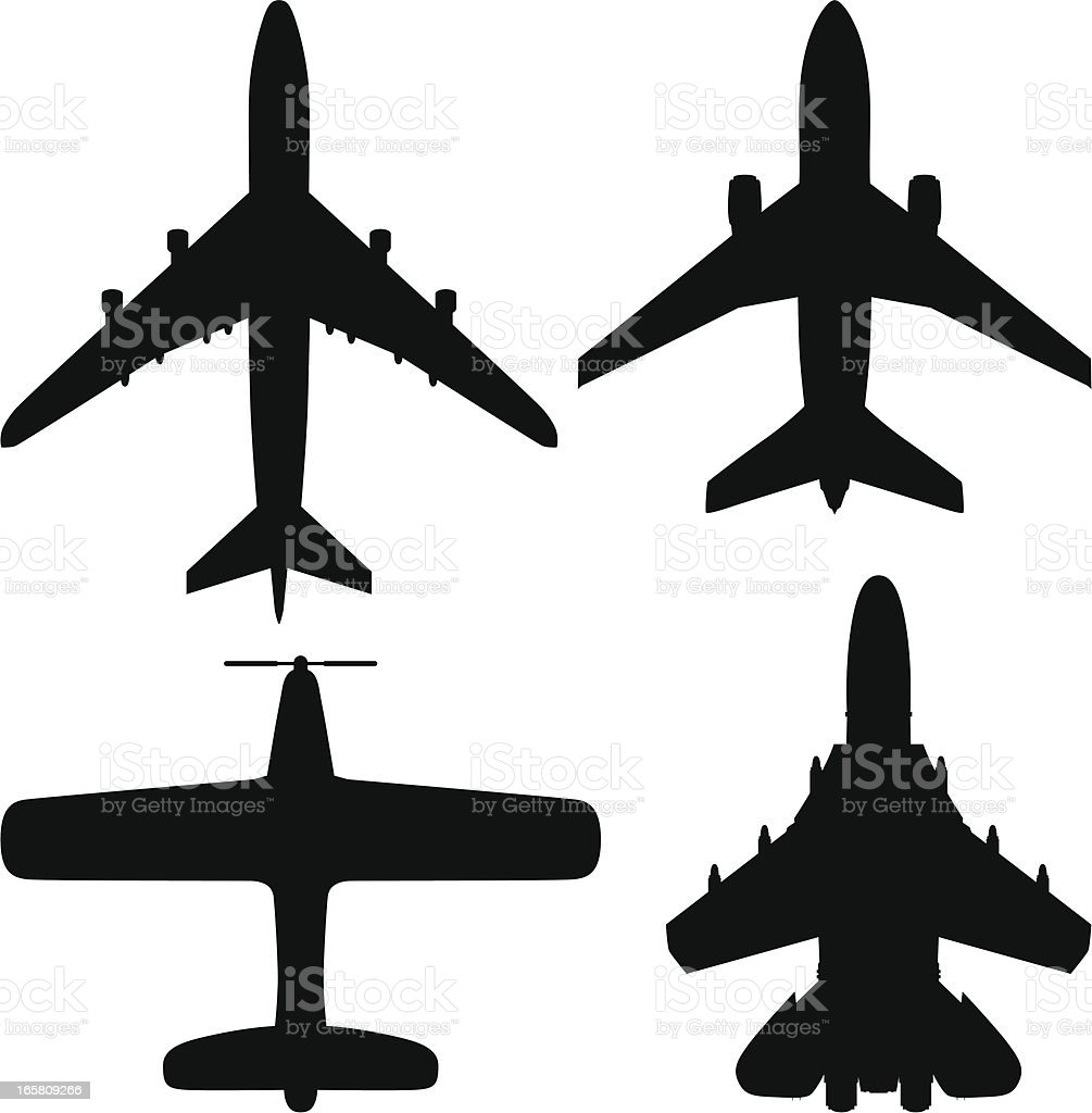 Airplanes vector art illustration