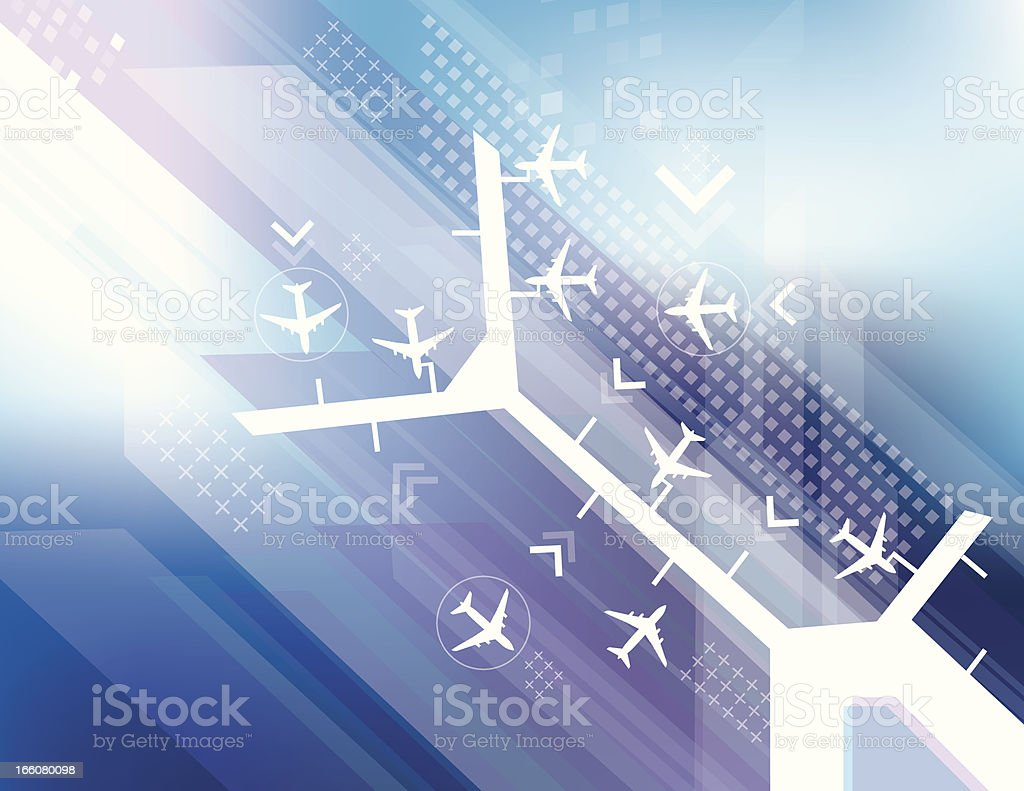 Airport abstract royalty-free stock vector art