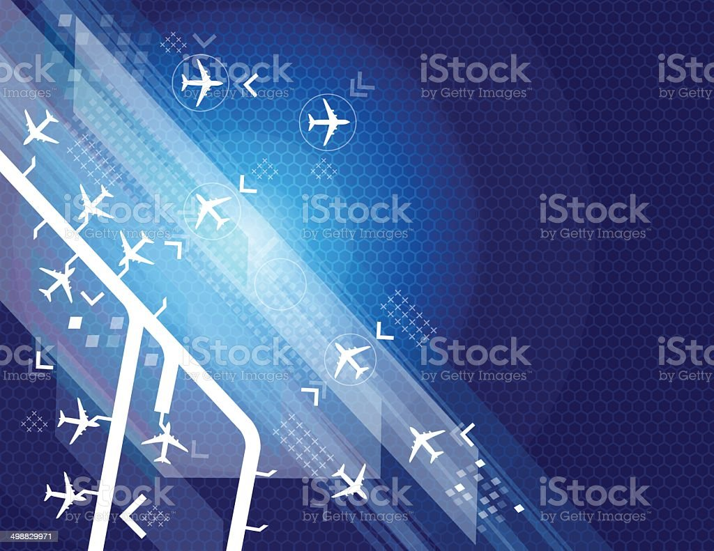 Airport abstract vector art illustration