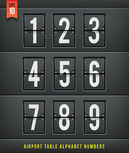 Airport arrival table alphabet. Vector illlustration. vector art illustration