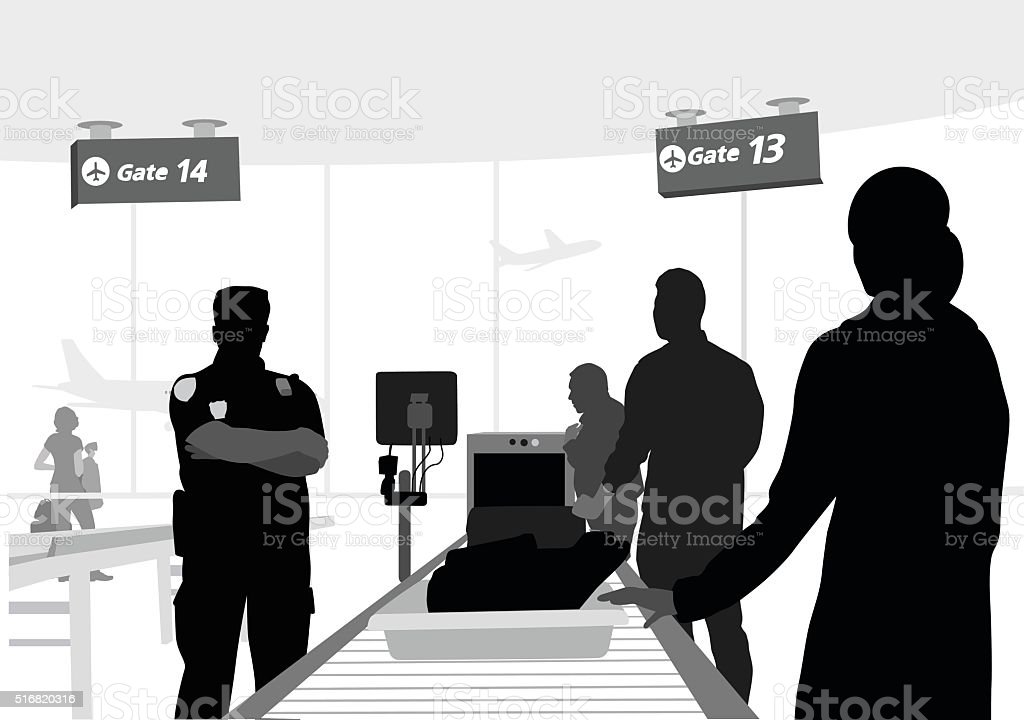 Airport Carry On vector art illustration