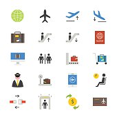 This is flat icons color vector Illustration.