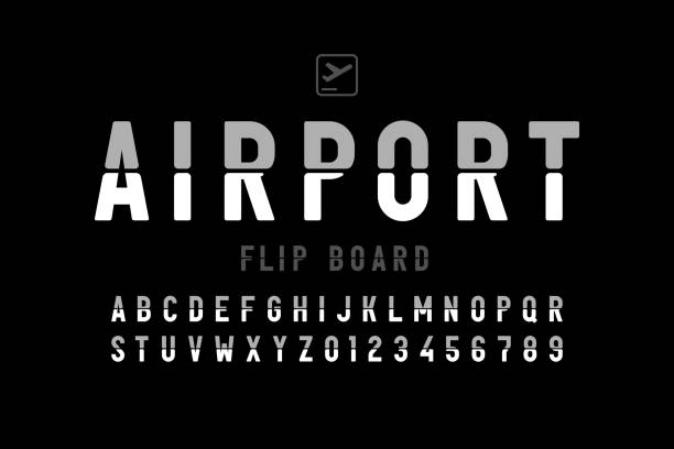 Airport flip board panel style font