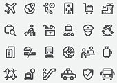 Airport Graphics Line Icons