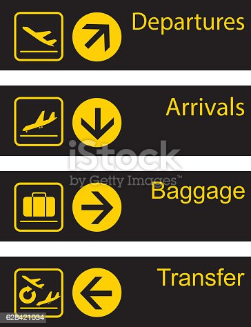 istock Airport guide board 628421034