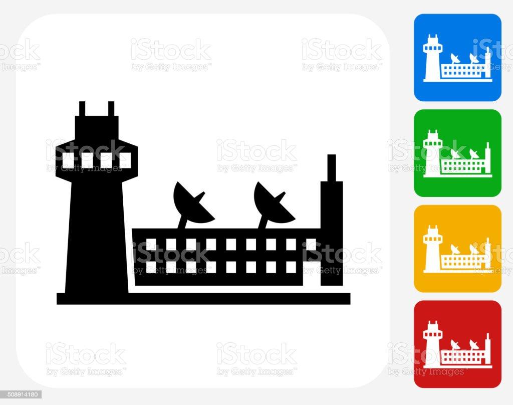 Airport Icon Flat Graphic Design vector art illustration