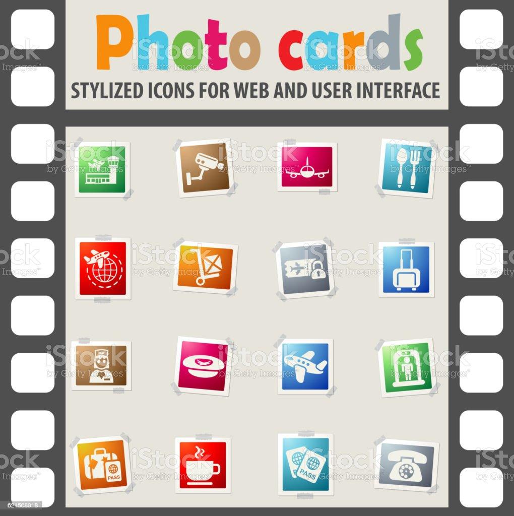 airport icon set airport icon set – cliparts vectoriels et plus d'images de avion libre de droits