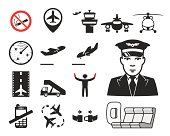 Airport icons set // 04