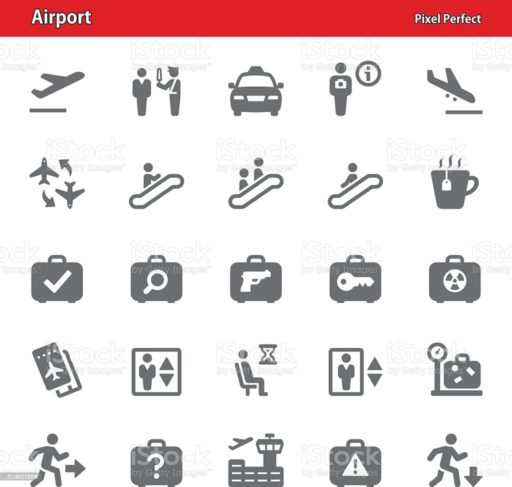Airport Icons - Set 3 vector art illustration