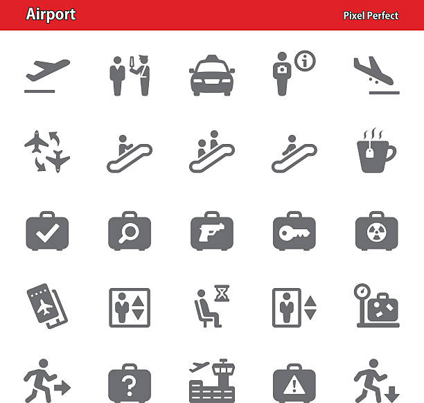 Airport Icons - Set 3 vector art illustration