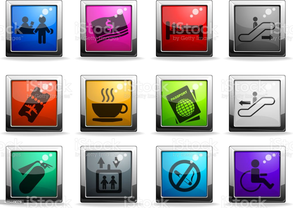 Airport icons royalty-free airport icons stock vector art & more images of airplane