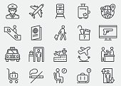 Airport Line Icons