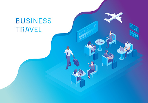 Airport lounge for business travellers