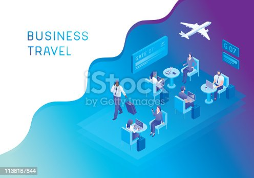 istock Airport lounge for business travellers 1138187844