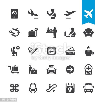 Airport navigation related icons BASE pack #41