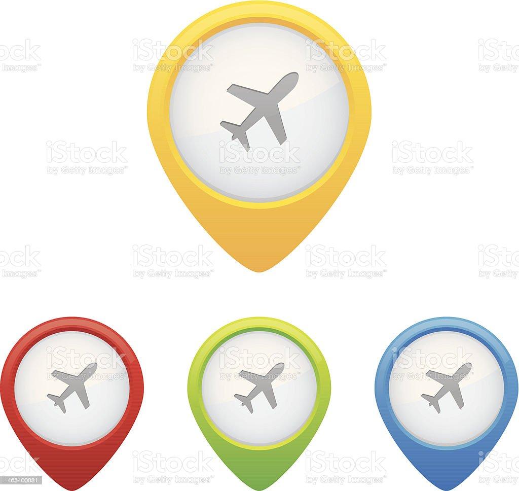 Airport Pins vector art illustration