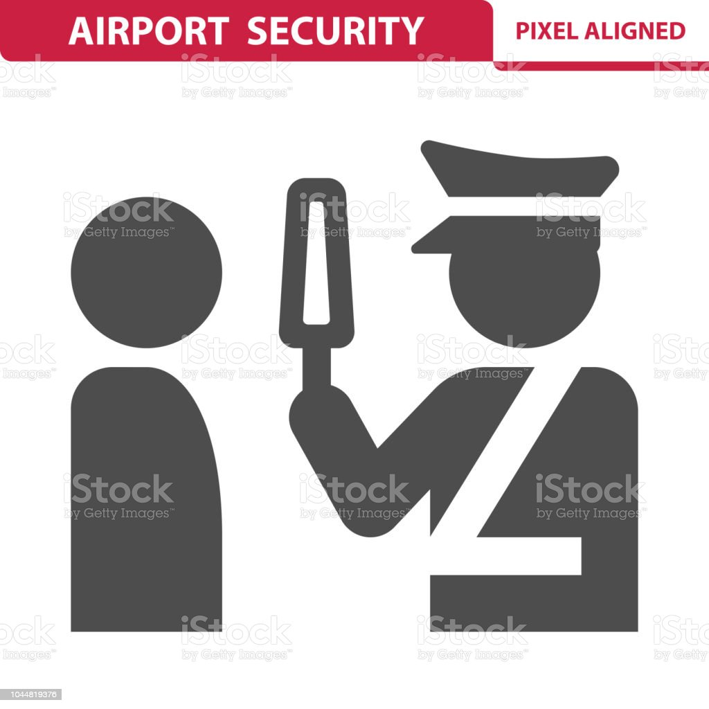 Airport Security Icon vector art illustration