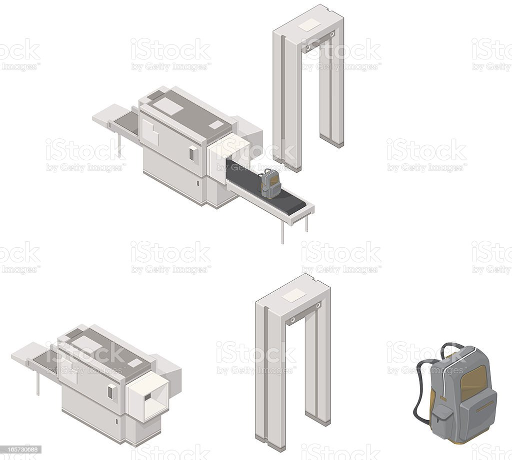 Airport Security System. vector art illustration