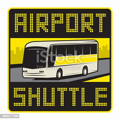 Airport Shuttle Sign Or Symbol Stock Vector Art More Images Of