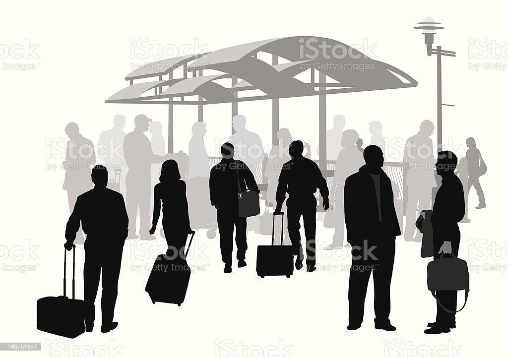 Airport Shuttle Vector Silhouette vector art illustration