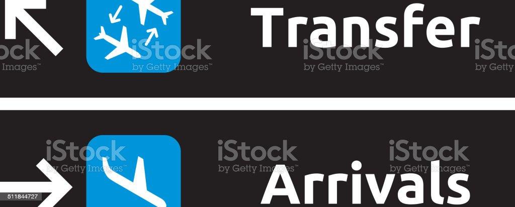 Airport Signs vector art illustration