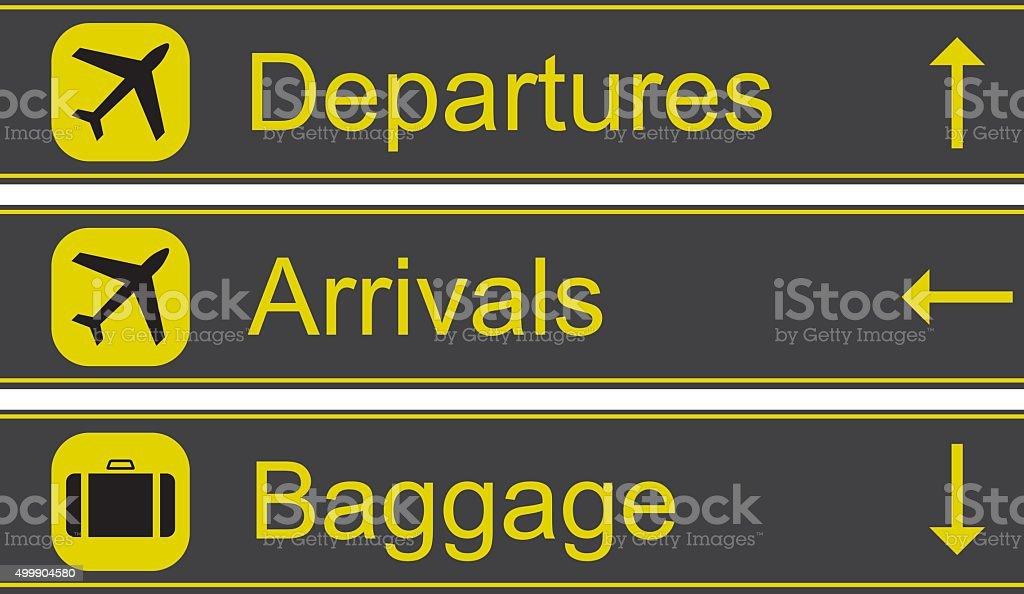Airport Signs Vector Illustration vector art illustration