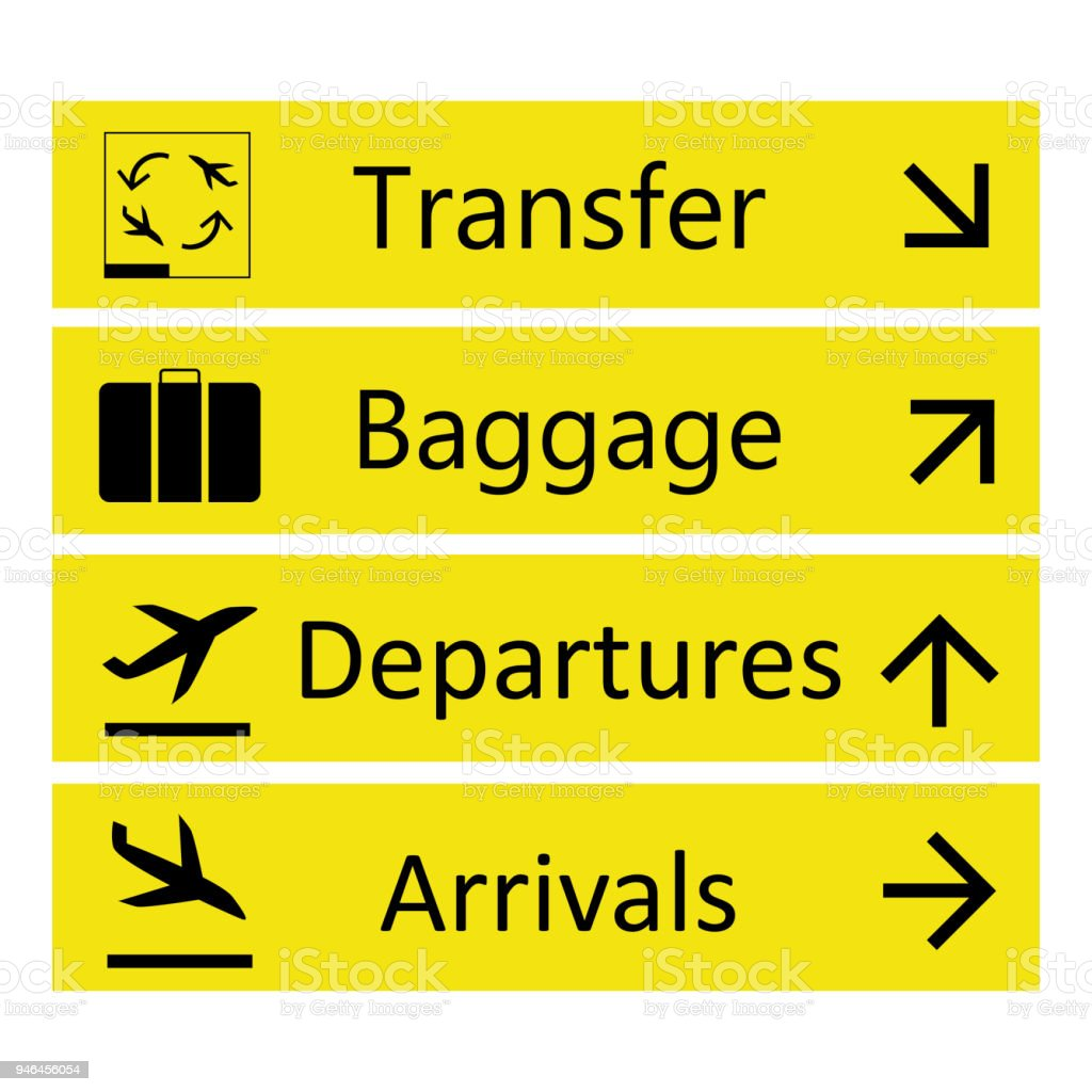 Airport Signsisolated On White Background Stock Vector Art ...