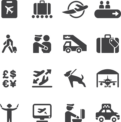 Airport Silhouette icons 2   EPS10